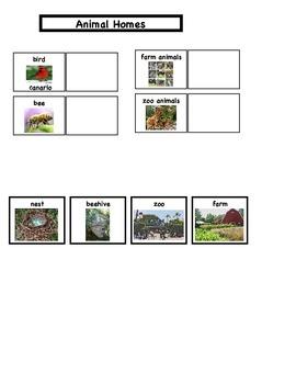 Animal Homes File Folder