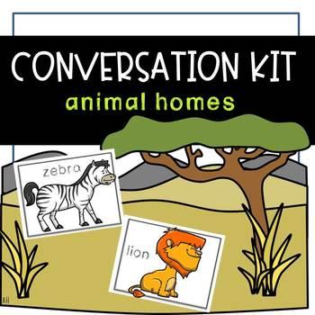 Conversation Kit: Animal Habitats {ESL} (Kindergarten Wonders Unit 7 Week 3)
