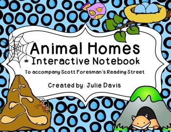 Animal Homes Interactive Notebook Journal