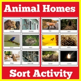 Animal Homes Matching Activity