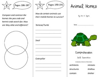 Animal Homes Trifold - Treasures 3rd Grade Unit 5 Week 2 (2011)