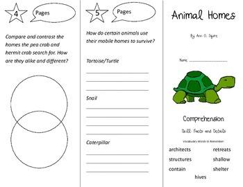 Animal Homes Trifold - Treasures 3rd Grade Unit 5 Week 5 (2009)