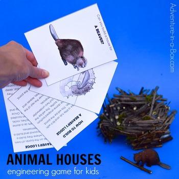 Animal Houses: Printable Engineering Game for Kids