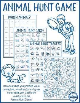 Animal Hunt Game - Visual Perceptual and Gross Motor Skill Activities