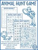 Animal Hunt Game - Visual Perceptual and Gross Motor Skill Activities