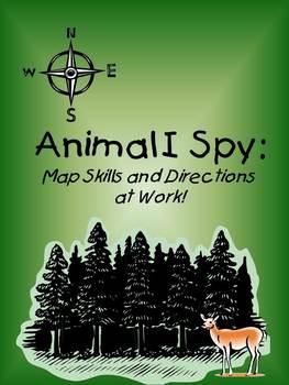 Animal I Spy:  Map Skills Activity