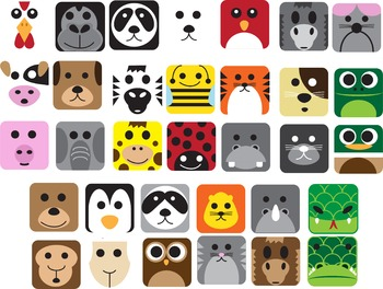 Animal Icons/ Cliparts