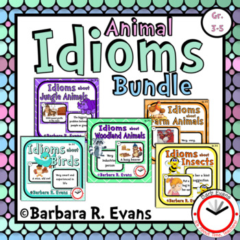 IDIOMS UNIT BUNDLE: Idioms Activities, Literacy Centers, Task Cards, Games