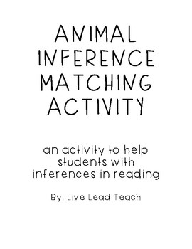Animal Inferences Matching Activity