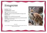 Australian Animals Information posters
