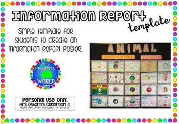 Animal Information Report Template