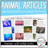 Animal Informational Text Passages and Comprehension