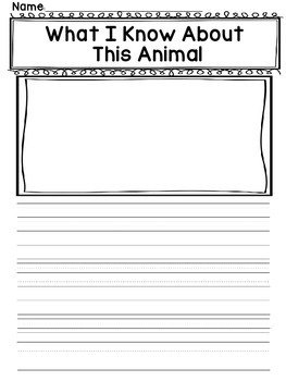 Animal Informational Writing