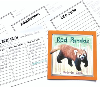 Animal Research & Informational Writing Templates (for Target Dollar Spot books)