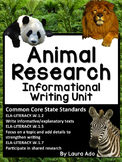 Animal Informational Writing Unit & Book