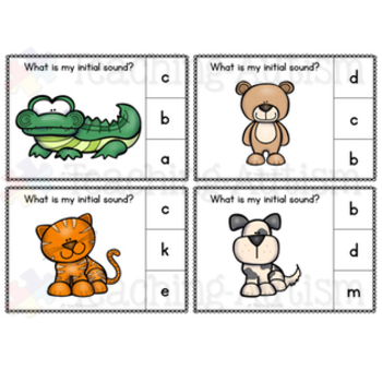 Animal Initial Sounds Task Cards