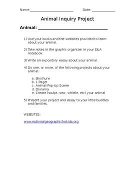 Animal Inquiry Project