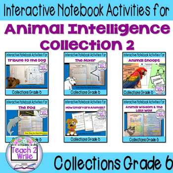 Animal Intelligence Bundle Interactive Notebook for HMH Collection 2 Gr. 6