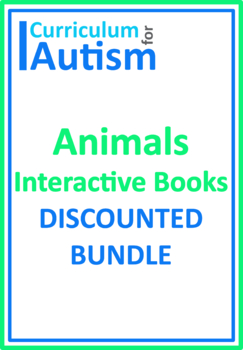 Animals Biology Interactive Books BUNDLE Autism Special Education