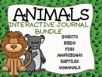 Animal Interactive Journal BUNDLE