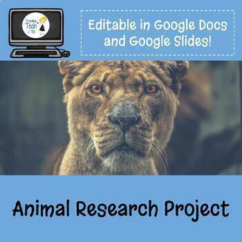 Animal Research Project & Flyer Design - Fully Editable in Google Docs!