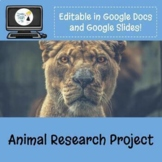 Animal Research Project & Flyer Design - Fully Editable in Google Drive!