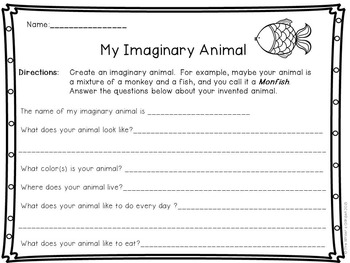Invent-an-Animal: Writing Packet and Task Cards