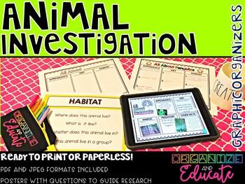 Animal Investigation Graphic Organizers