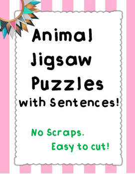 Make a Sentence Animal Jigsaw Puzzles (Perfect for Anxiety/Anger Management)