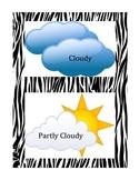 Animal Jungle Theme Weather Cards