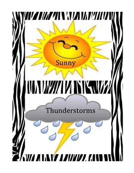 Animal Jungle Theme Weather Cards