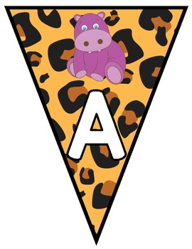 Animal/Jungle Themed Pennants- 6 Different Choices for Each