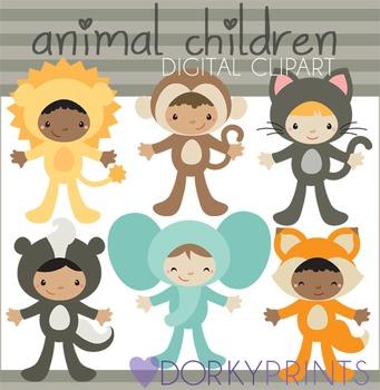 Animal Kids Digital Clip Art