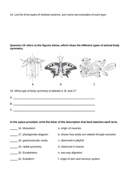 Animal Kingdom Exam