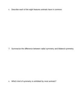 Animal Kingdom Homework Assignment 1