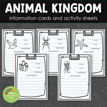 Animal Kingdom Information Cards and Activity Sheets