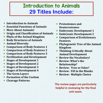 Animal Kingdom Introduction Warm Ups Interactive Notebook Pages for Biology
