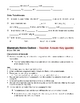 Animal Kingdom Mammals Notes Outline Lesson Plan