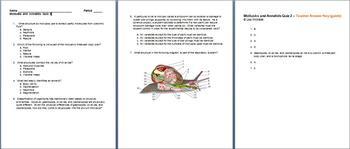 Animal Kingdom Mollusks and Annelids Unit Bundle - 8 Files