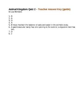 Animal Kingdom Quiz 2