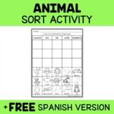 Animal Kingdom Sort Activity