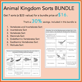 Animal Kingdom Sorts BUNDLE