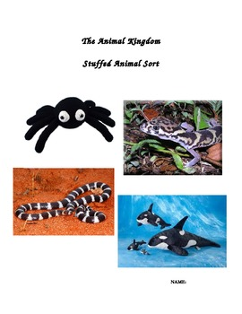 SCIENCE: Animal Kingdom~ Stuffed Animal Sort!