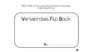 Animal Kingdom: Vertebrates Flip Book