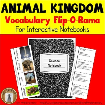 Animal Kingdom Vocabulary Interactive Notebook
