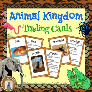 Animal Kingdom Vocabulary Trading Cards