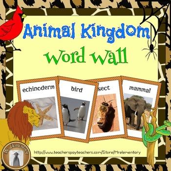 Animal Kingdom Word Wall