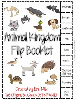 Animal Kingdoms Animal Families Flipbook By The Organized Chaos Of Instruction