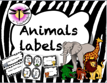 Animal Labels (Editable)