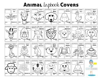 Animal Research Lapbook - Report of Information